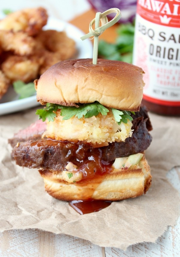 Hawaiian Surf and Turf Slider Recipe