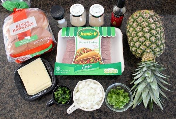 Hawaiian Turkey Burgers Recipe Ingredients