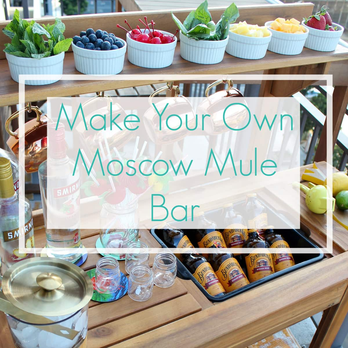 Make your own moscow mule bar for Build your own bar