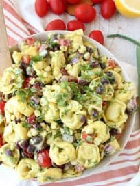 Vegetarian Mexican Tortellini Salad Recipe