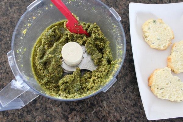 Mini Gluten Free Pesto Chicken and Vegetable Bites