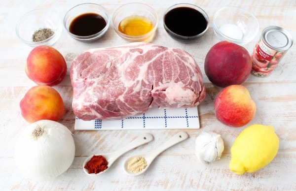 Slow Cooker Peach BBQ Pulled Pork Recipe Ingredients