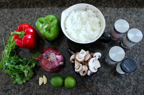 Veggie Fajita Bowl Ingredients