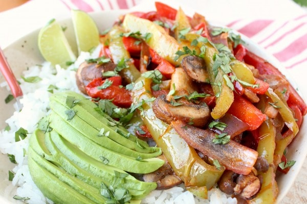 Vegan Fajita Bowl Recipe