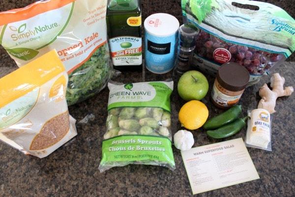 Warm Superfood Salad Ingredients