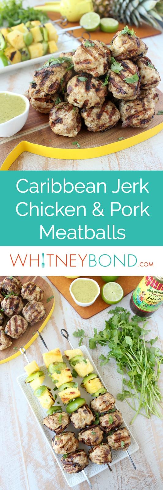 Caribbean Jerk Chicken and Pork Meatballs Recipe