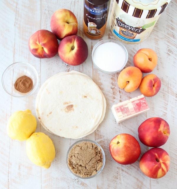 Crock Pot Dessert Fruit Taco Cups Ingredients