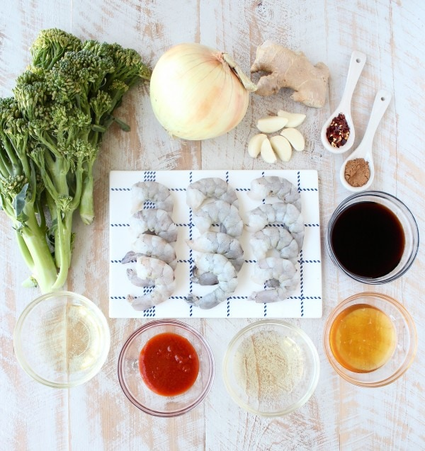 General Tso's Broccoli & Shrimp Recipe Ingredients