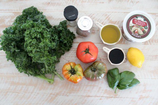 Grilled Tomato & Kale Salad Ingredients