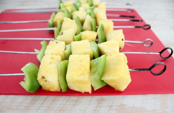 Bell Pepper Pineapple Skewers