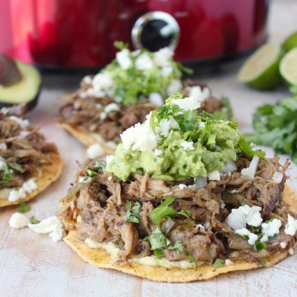 Slow Cooker Carnitas Tostadas Recipe