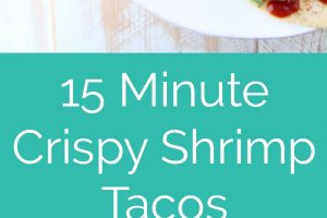 This quick and easy recipe for Crispy Shrimp Tacos with Chipotle BBQ Sauce is made in only 15 minutes, perfect for a weeknight dinner in a hurry!
