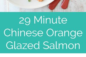 An easy Chinese orange sauce is prepared & brushed over Orange Glazed Salmon and colorful vegetables in this healthy, simple, 30 minute foil dinner recipe!