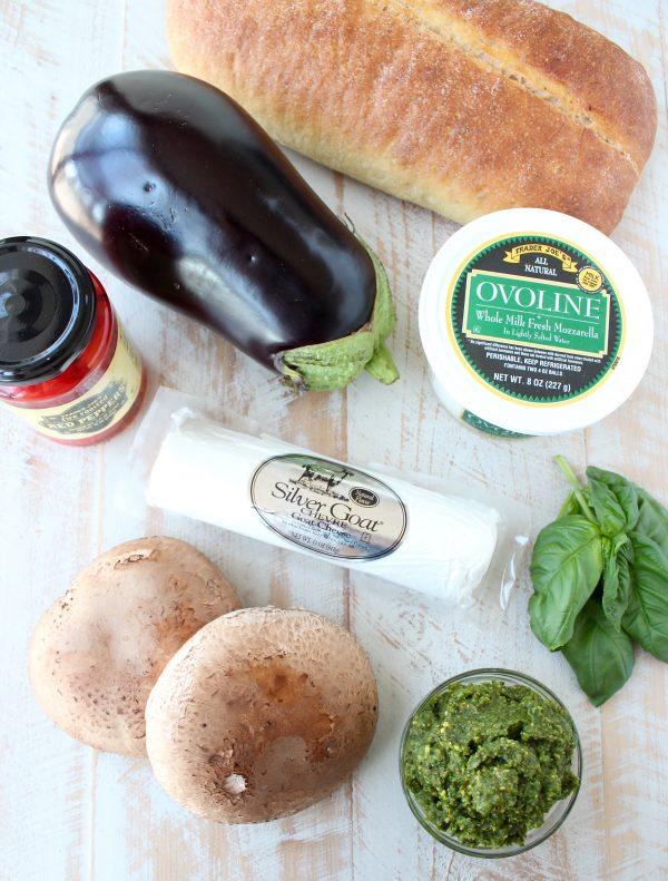 Grilled Vegetable Italian Panini Ingredients