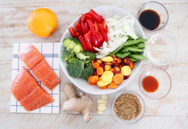Chinese Orange Glazed Salmon Foil Dinner Recipe Ingredients