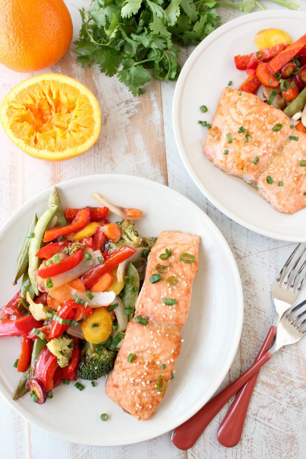 Chinese Orange Glazed Salmon Foil Dinners