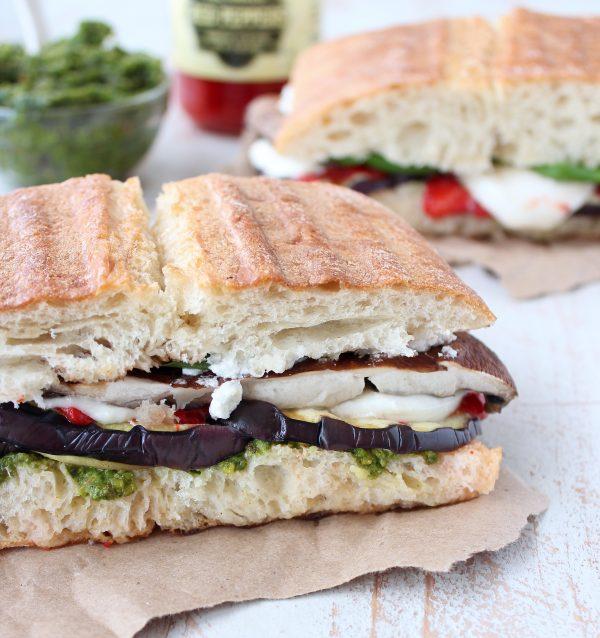Vegetarian Italian Panini Sandwich Recipe