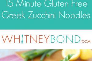 15 Minute Greek Zucchini Noodles Recipe