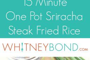 15 Minute One-Pot Sriracha Steak Fried Rice Recipe