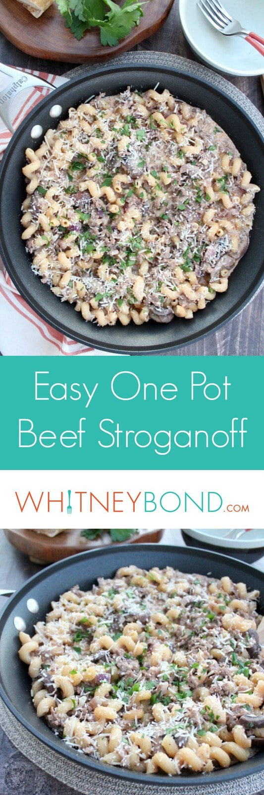 Easy One Pot Beef Stroganoff Recipe