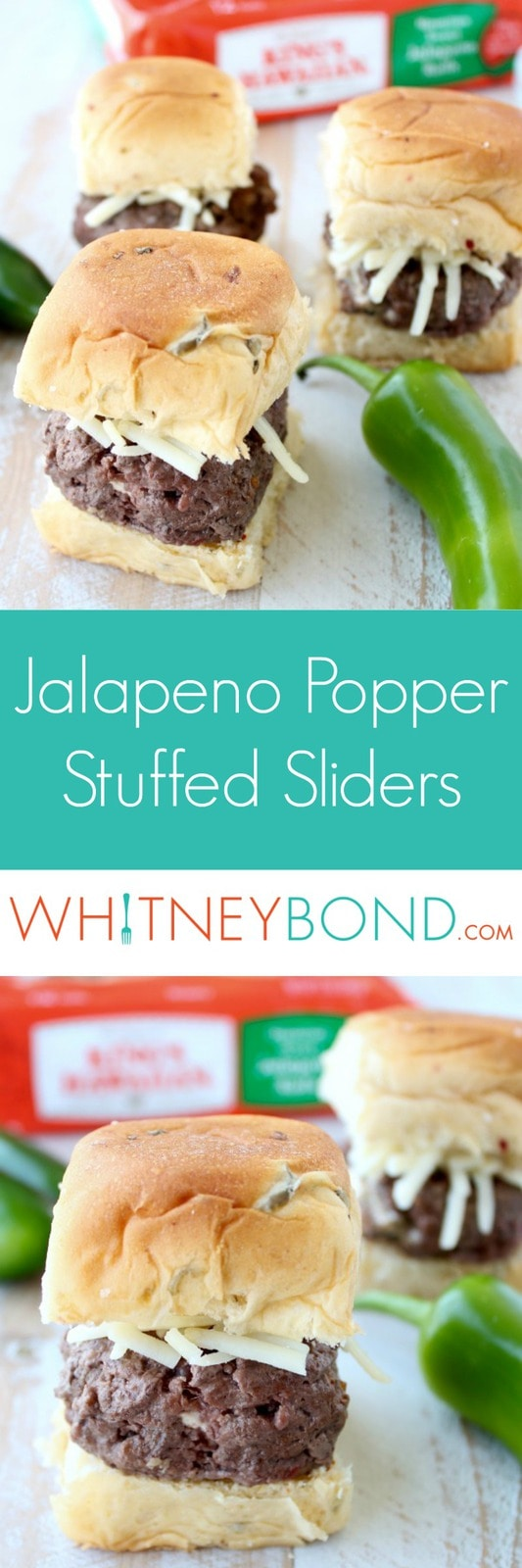 Jalapeno Popper Stuffed Sliders