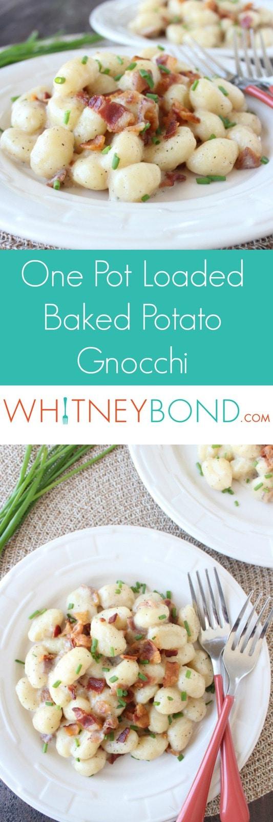 One Pot Loaded Baked Potato Gnocchi Recipe