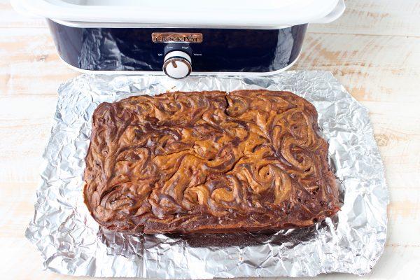 Pumpkin Cheesecake Crock Pot Brownies Recipe