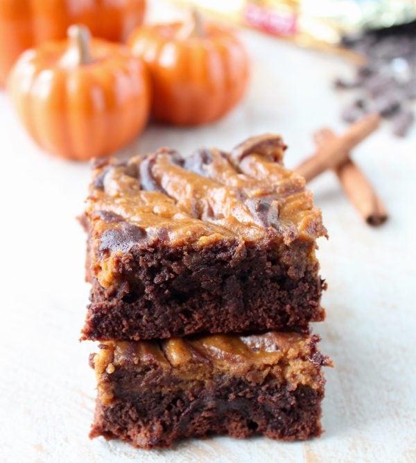 Pumpkin Cheesecake Crock Pot Brownies