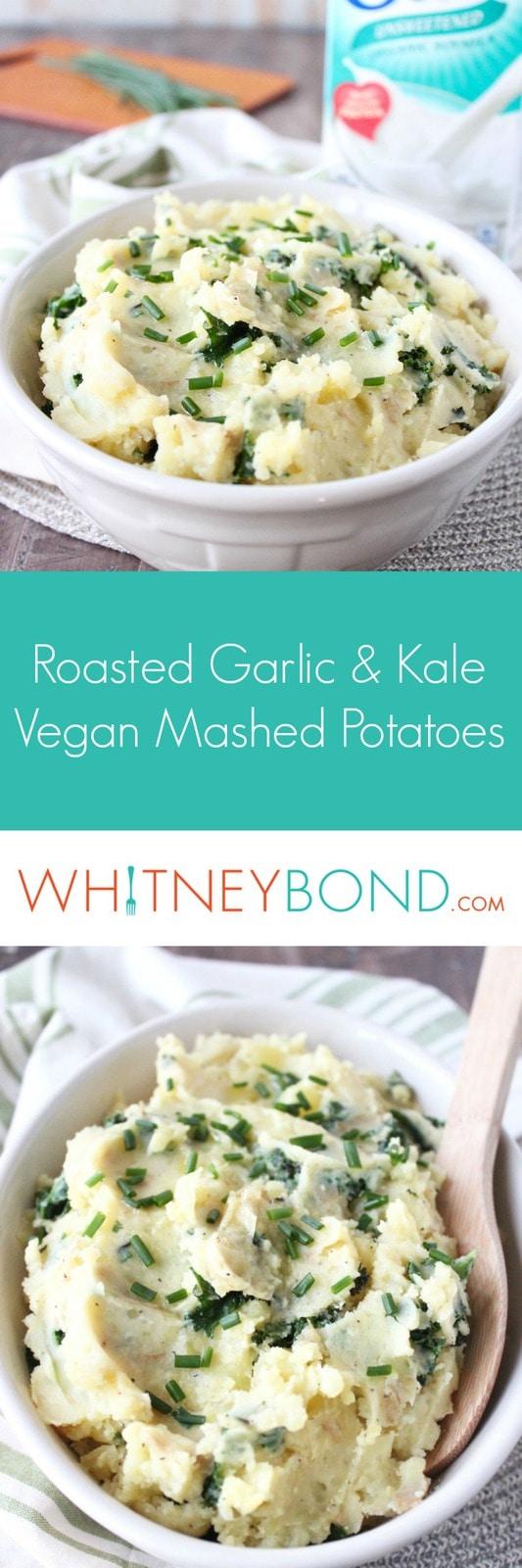 Garlic Kale Vegan Mashed Potatoes