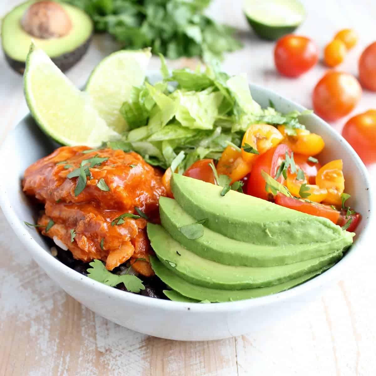 5 Minute Salmon Taco Rice Bowl