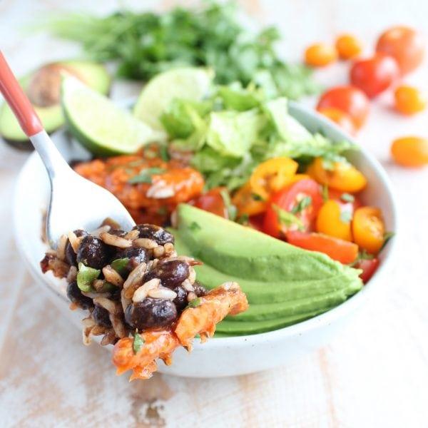 5 Minute Salmon Taco Rice Bowl Recipe