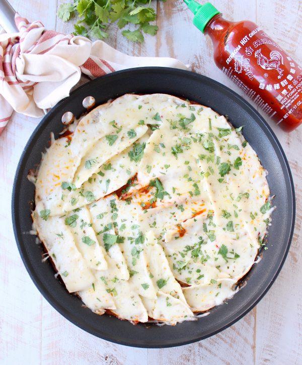 Garlic Beef Enchiladas Recipe: Skillet Sriracha Beef Enchiladas Recipe