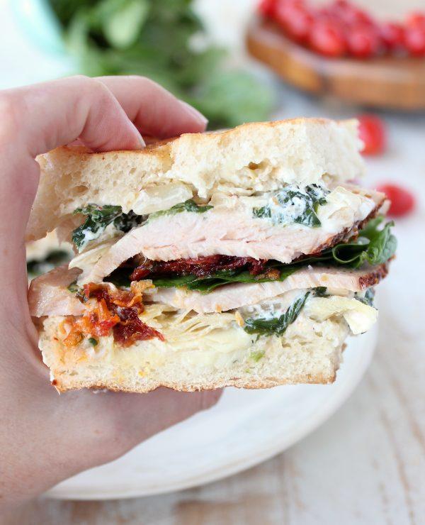 Spinach Artichoke Turkey Panini Recipe