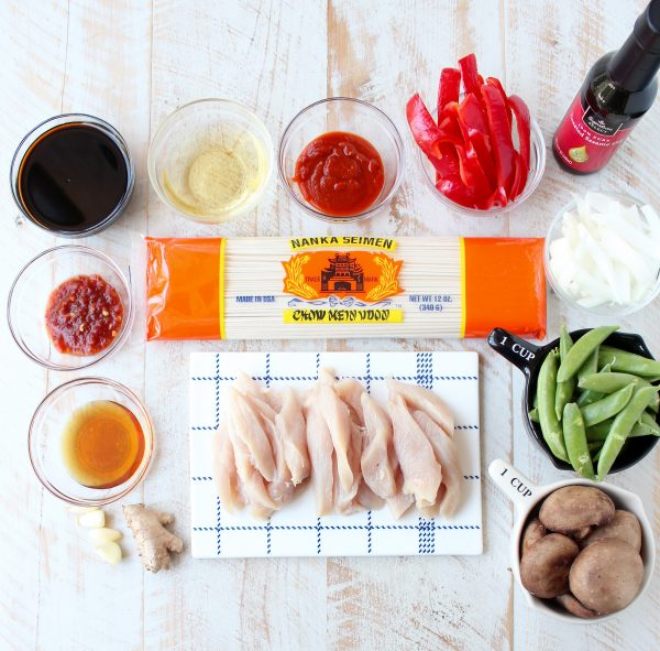 Easy Chicken Lo Mein Recipe Ingredients