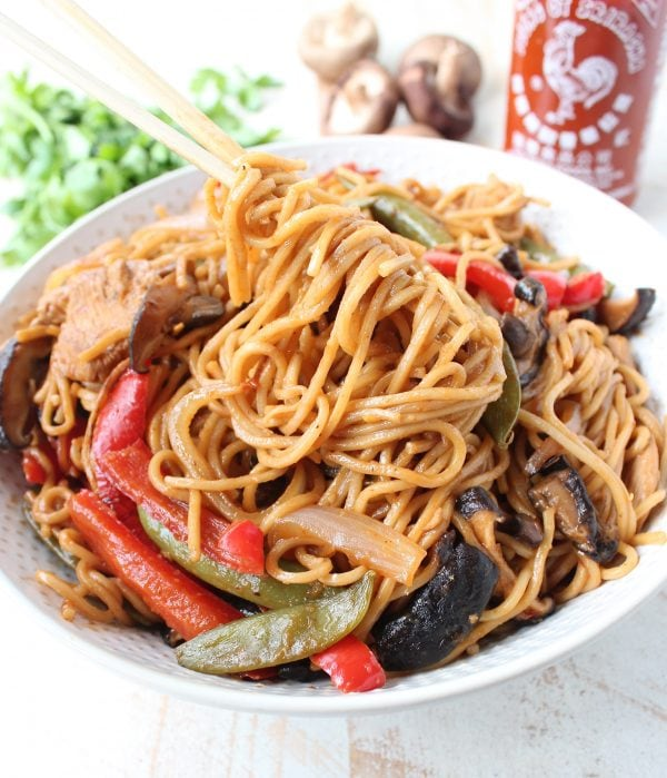 Easy 30 Minute Chicken Lo Mein Recipe