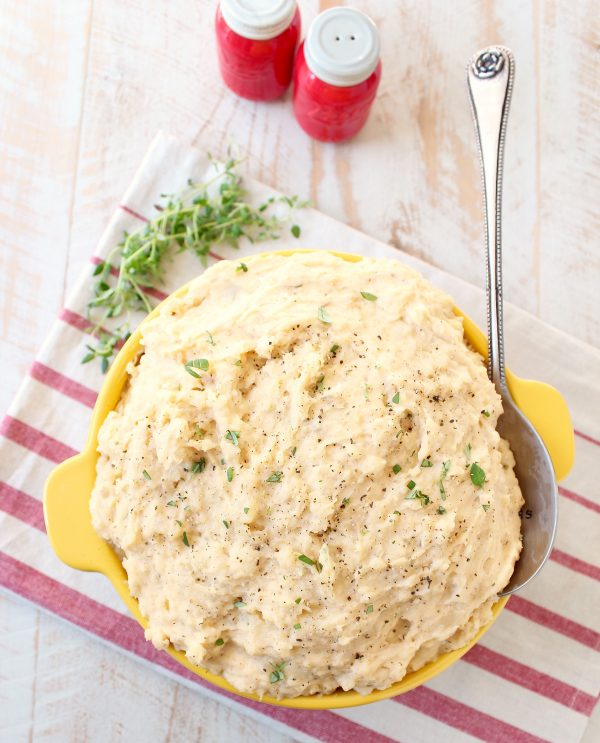 Potatoes are roasted in cajun seasonings, then mashed with cream cheese, & butter in this delicious Cajun Mashed Potatoes recipe, served with Cajun Turkey!