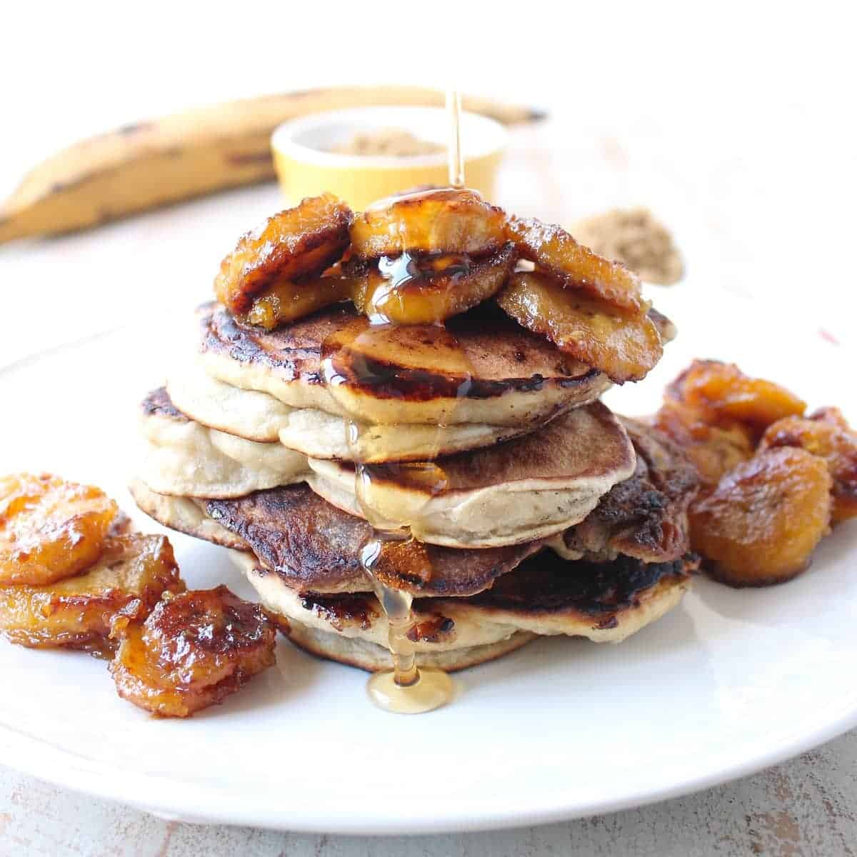 Caramelized Plantain Pancakes