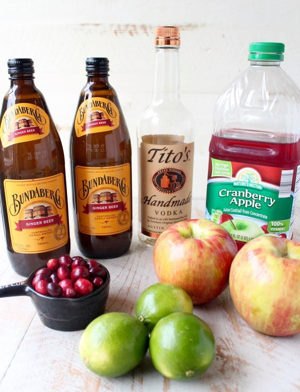 This recipe for Cranberry Apple Moscow Mule Punch is perfect for holiday parties, Friendsgiving, or anytime you need a Moscow Mule recipe for a crowd!