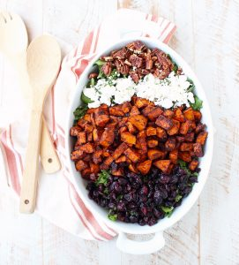 Chili Roasted Sweet Potato & Cranberry Salad