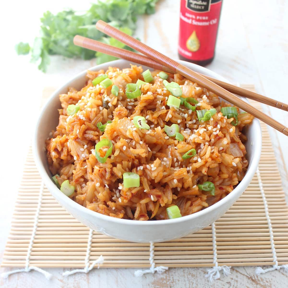 kimchi fried rice I use kimchi as a topper on this meat served over rice ( omg), chopped up in kimchi fried rice, andchopped up in kimchi fried rice over and over and over again we are obsessed with this easy gluten-free dinner recipe this recipe concept came to me a few years ago by way of the new york timeswhat can i say, if the nyt tells me to cook something, i usually do it.