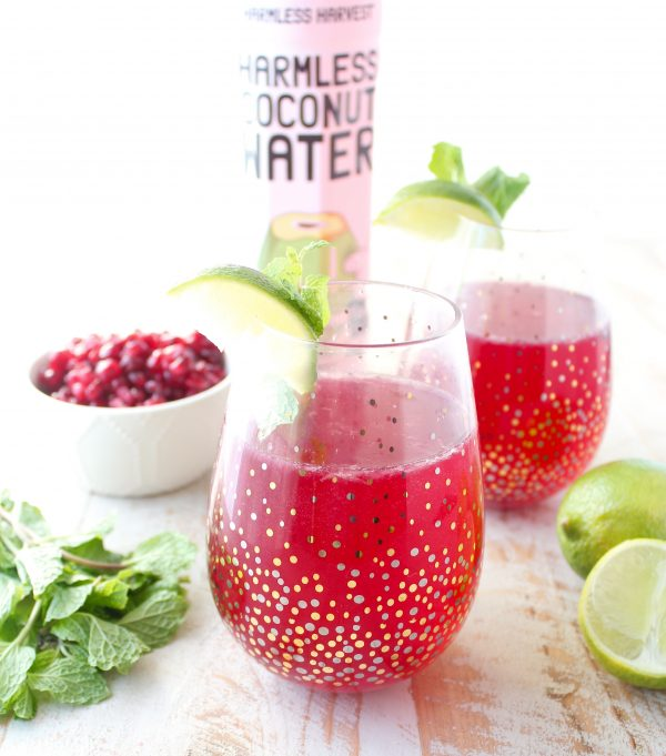 Sparkling Rum And Pomegranate Punch Recipe — Dishmaps