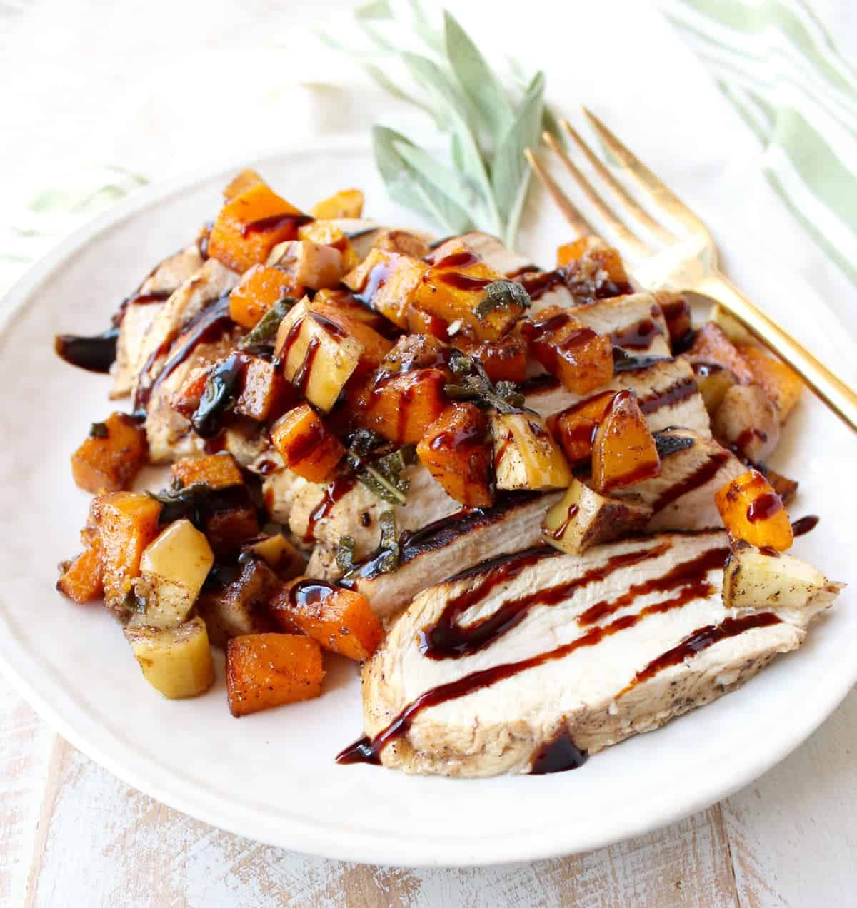 Butternut Squash Apple Grilled Bruschetta Chicken Recipe