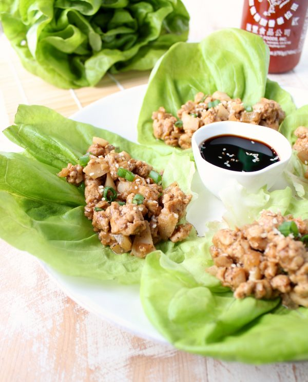 These PF Chang's copycat turkey lettuce wraps, made in only 15 minutes, are prepared with lean ground turkey, making them a healthy & gluten free option!