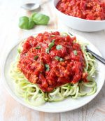 Roasted Red Pepper Turkey Bolognese