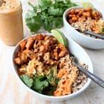 Thai Peanut Sweet Potato Buddha Bowl