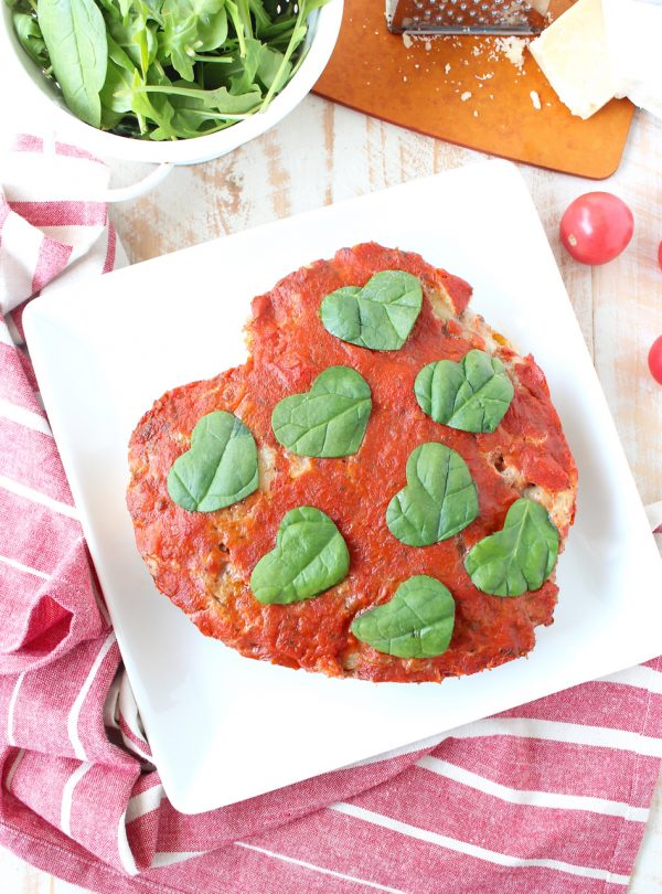 This Italian Meatloaf recipe is easy to make & so delicious! It can be made into a heart shape for Valentine's Day, or made anytime of the year using a traditional meatloaf pan!