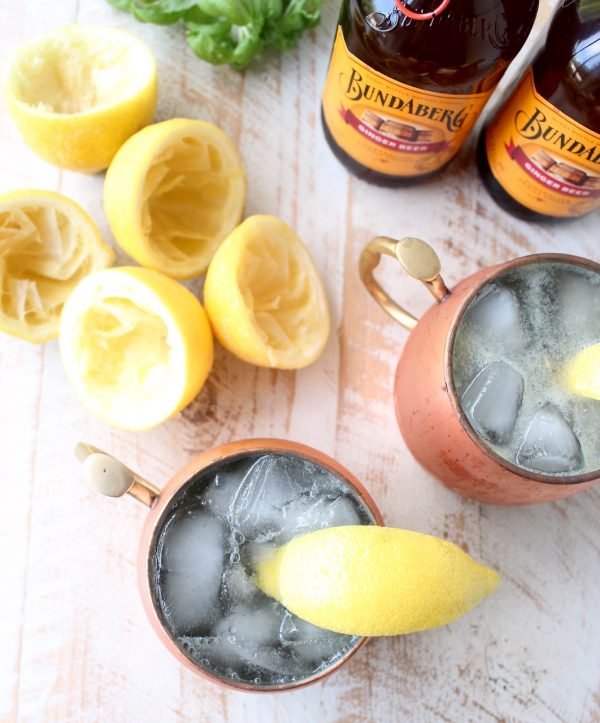 This easy ginger lemonade recipe can be served as a mocktail, or with vodka as a cocktail, it's so refreshing and perfect for warm summer days!