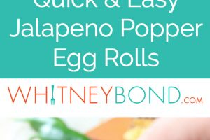 Crispy, cheesy, delicious jalapeno popper egg rolls are the perfect appetizer for parties or game day! They're also so easy to make in under 30 minutes!