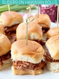 pulled pork sliders on plate