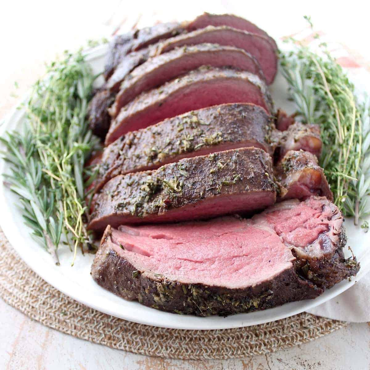 Herb Crusted Beef Tenderloin with Horseradish Gorgonzola ...